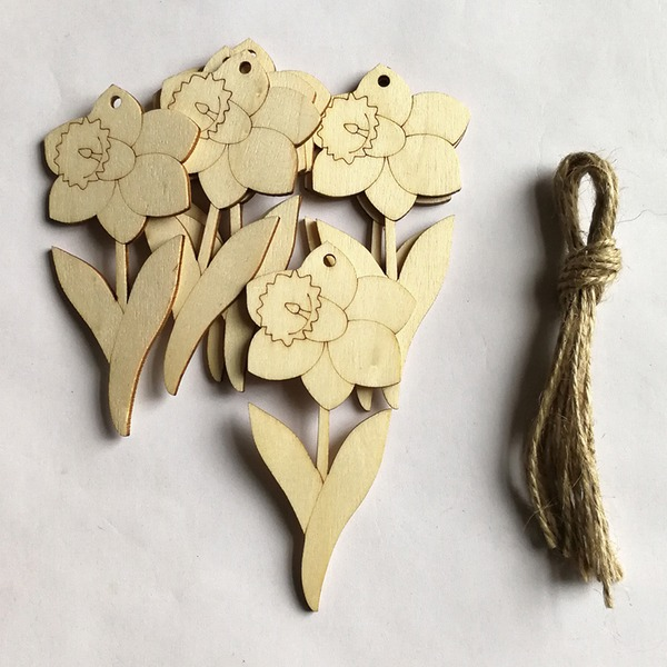 Simple/Beau Gentil/Charmant En bois Ornements de mariage (lot de 10)