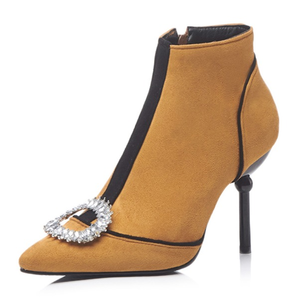 Women's Suede Stiletto Heel Pumps Boots With Others shoes