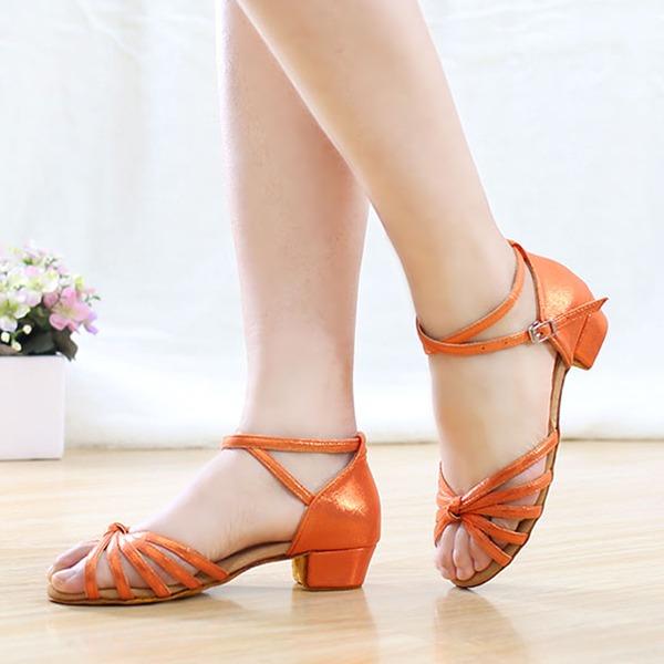 Donna Pelle microfibra Tacchi Sandalo Latino Scarpe da ballo