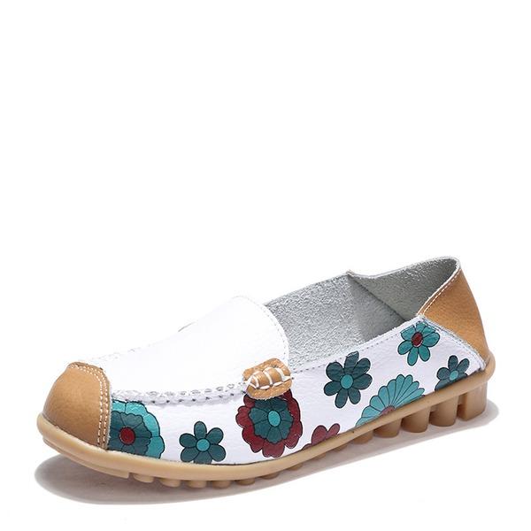 Donna PU Senza tacco Ballerine con Con risvolto scarpe