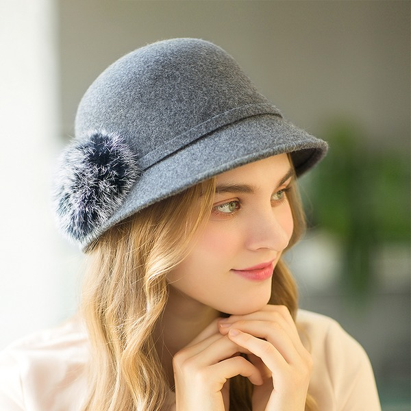 Damen Mode/Glamourös/Einzigartig/Handgemacht/Nizza/Fantasie Wollen Schlapphut