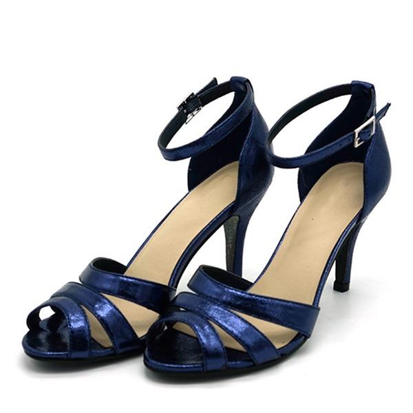Naisten PVC Piikkikorko Sandaalit Avokkaat Peep toe jossa Solki kengät