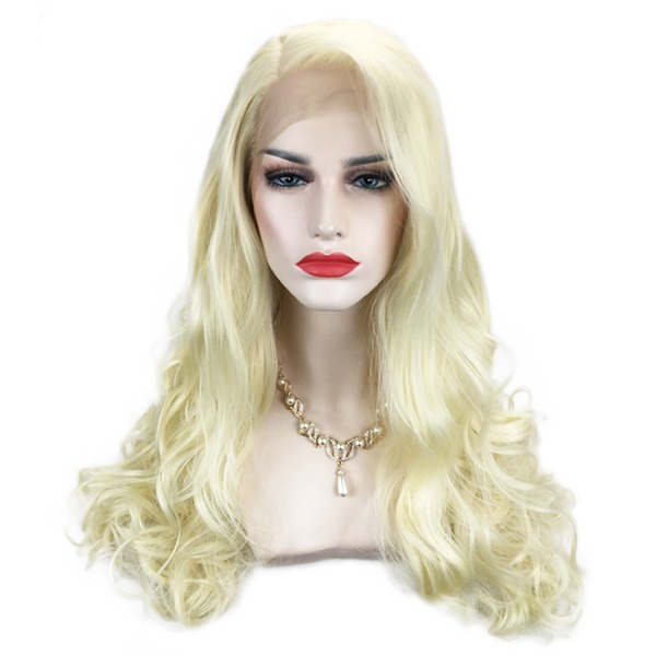 Loose Golvende Synthetische Lace Front Pruiken 360g
