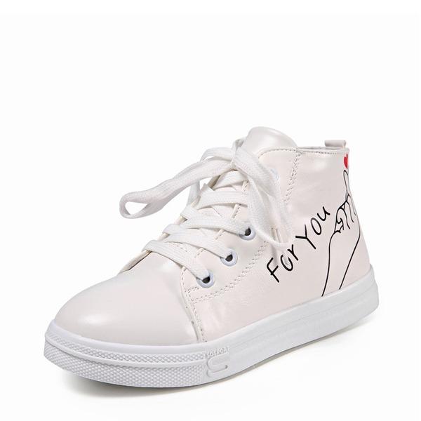Flicka rund tå konstläder platt Heel Platta Skor / Fritidsskor Sneakers & Athletic med Bandage