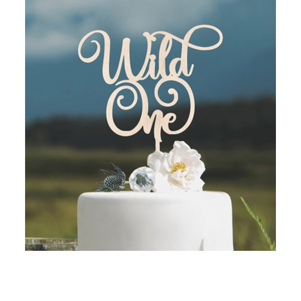 Birthday/Wild One Acrylic/Wood Cake Topper