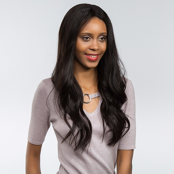 4A Non remy Straight Human Hair Full Lace Wigs 170g