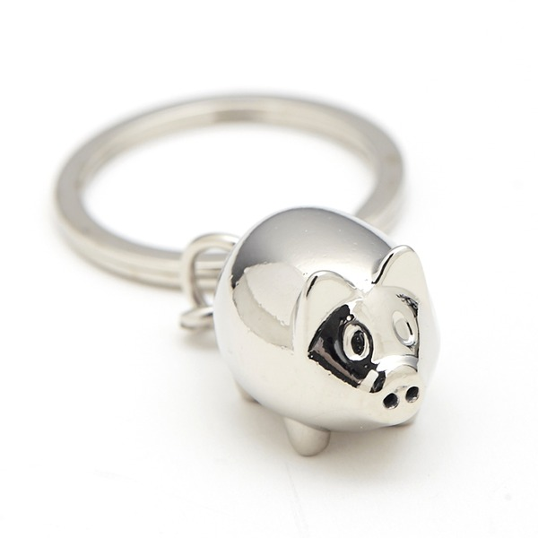 Personalized Cute Animal Stainless Steel Keychains