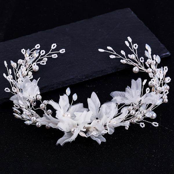 Señoras Glamorosa Aleación/La perla de faux Diademas con Perla Veneciano (Se venden en una sola pieza)