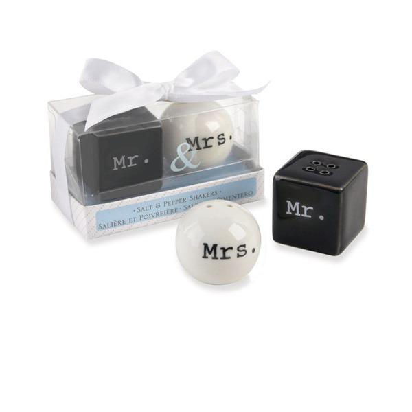 Mr. & Mrs. Ceramic Salt & Pepper Shakers (Set of 2)