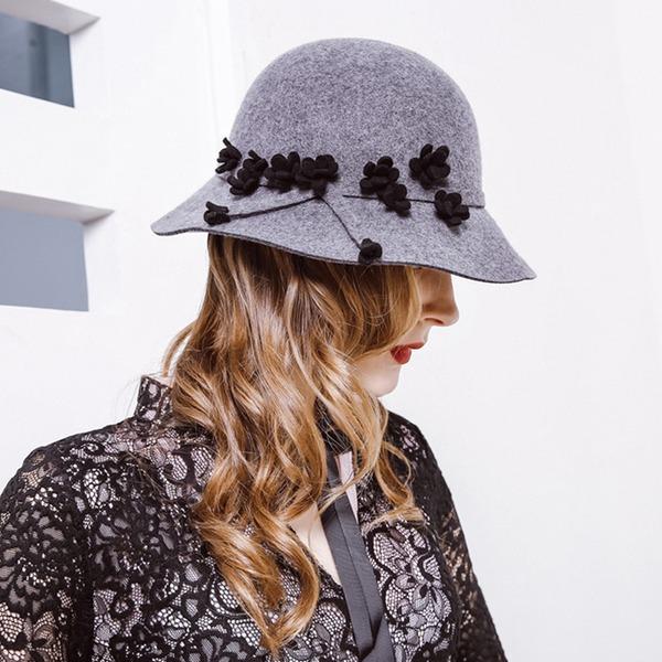 Ladies ' Móda/Glamourous/Pěkný Vlna Floppy klobouk