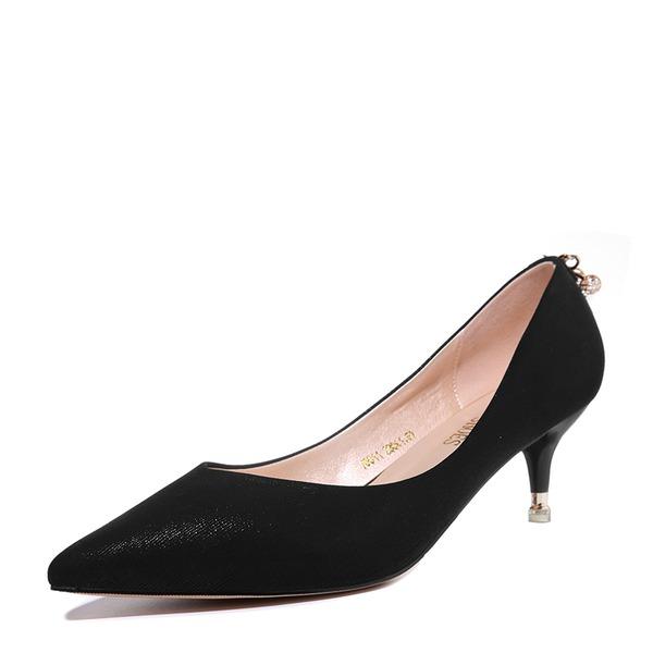 Femmes PU Talon kitten Escarpins Bout fermé chaussures