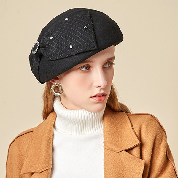 Ladies' Glamourous/Charming/Romantic Wool With Bowknot Beret Hats