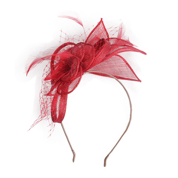 Dames Simple/Gentil/Jolie Batiste avec Feather/Tulle Chapeaux de type fascinator