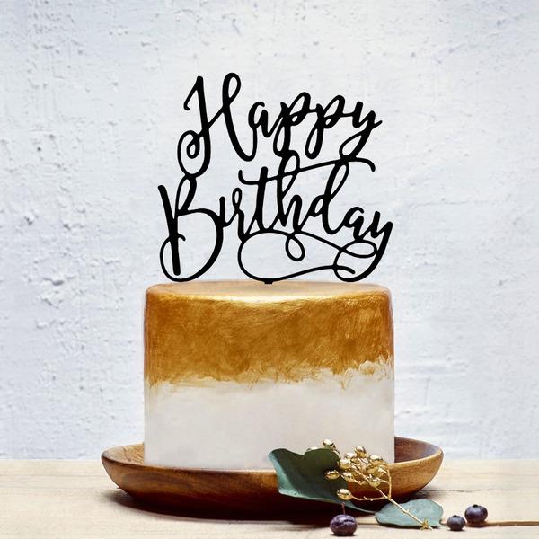 Glückliche Geburtstag Acryl Torten-Dekoration