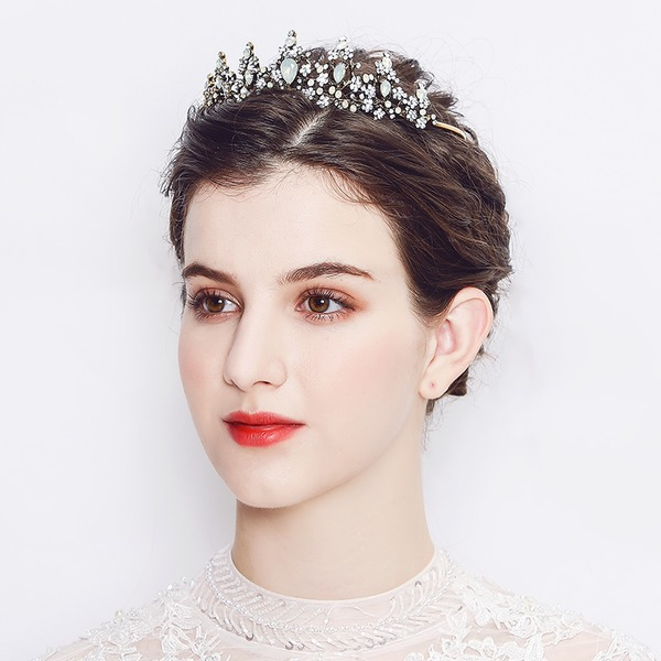 Ladies Eye-catching Alloy Tiaras With Rhinestone/Crystal