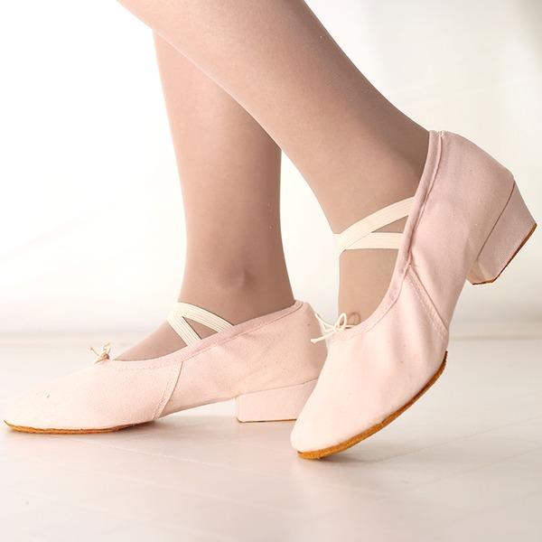 Mulheres Lona Saltos Balé Sapatos de dança