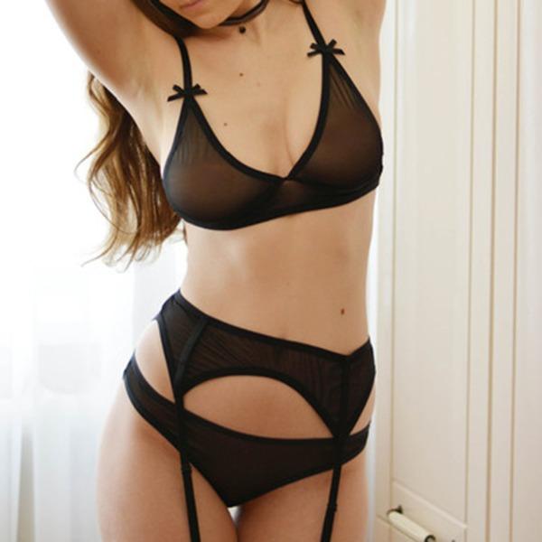 Elasthan Sexy Weiblich Wäschesets