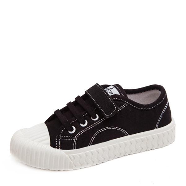 Unisexmodell Round Toe Lukket Tå Lerret flat Heel Flate sko Sneakers & Athletic med Velcro Blondér