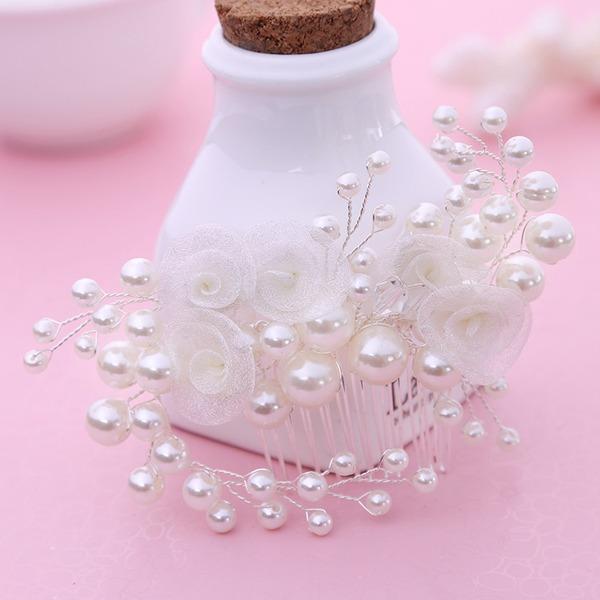 Glamourös Legierung/Faux-Perlen Kämme und Haarspangen (In Einem Stück Verkauft)