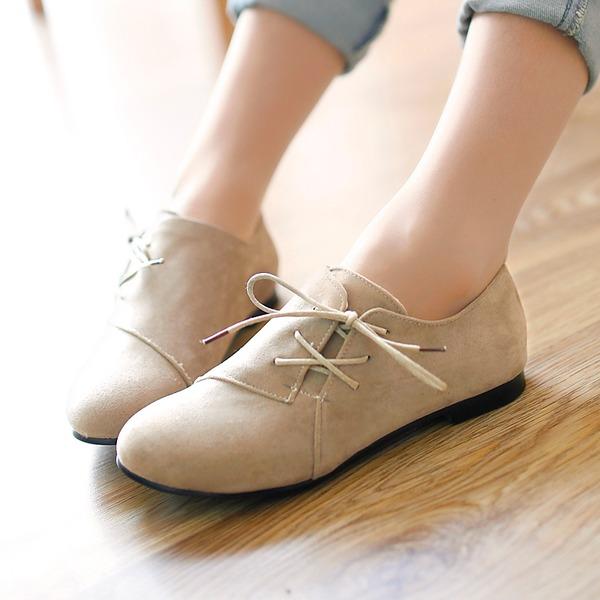 Mulheres Camurça Sem salto Sem salto Fechados com Aplicação de renda sapatos