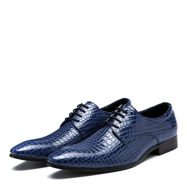 Erkek suni deri Bağcıklı Derbiler Elbise Ayakkabıları Erkek Oxford Ayakkabı