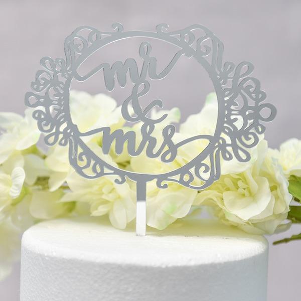 Couple classique/Mr & Mrs Acrylique Décoration pour gâteaux (Vendu dans une seule pièce)