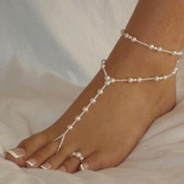 Frauen Peep-Toe mit Perle Kette