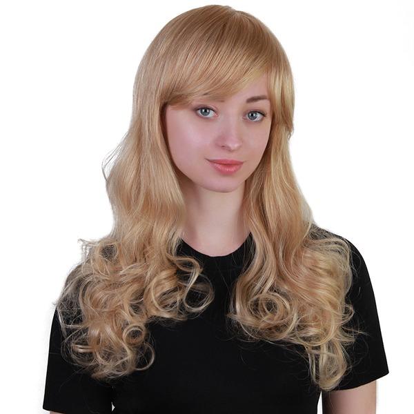 Aaltoileva Ihmisen hiusten sekoitus Ihonhoito peruukit 170g