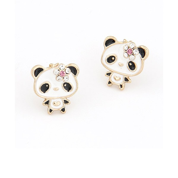 Lovely Alloy Rhinestones Women's Fashion Earrings (Sold in a single piece)