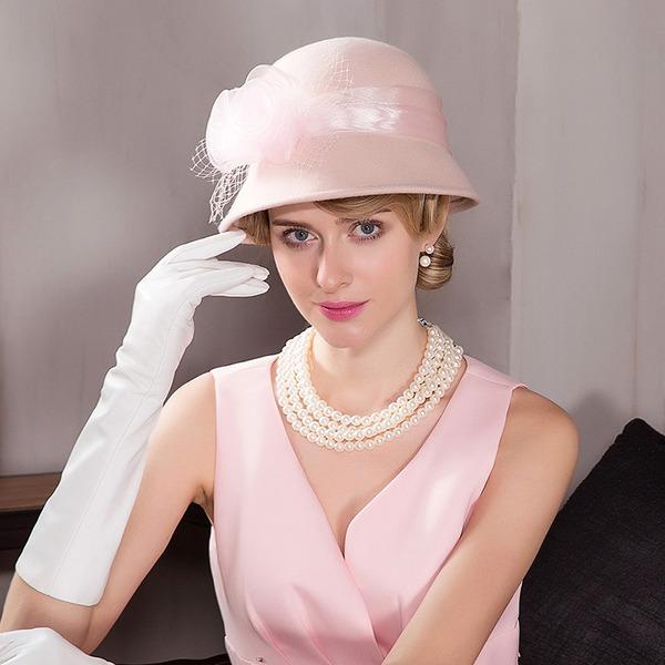 Damer' Mode/Enkel/Romantiskt/tappning utformar Ull Diskett Hat