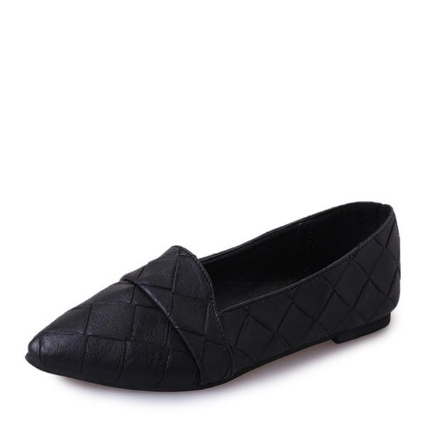 Femmes Similicuir Chaussures plates Bout fermé chaussures