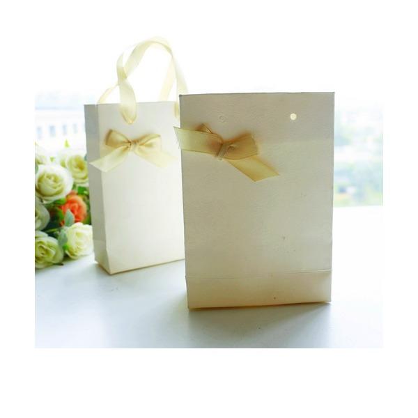 Amour doux/Style Classique Cubique Carte papier Boîtes cadeaux avec Rubans (Lot de 12)