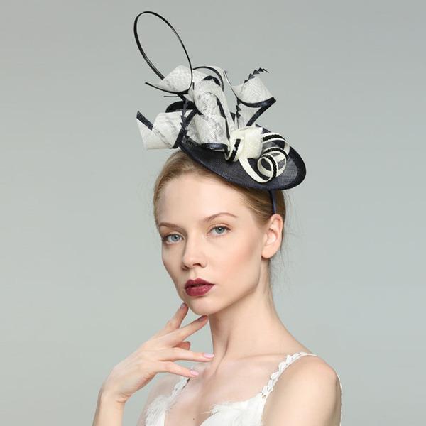 Glamourous/Elegantní/Jednoduchý/Eye-lov/Fantazie/Romantický/Umělecký Bílá látka podobná bavlně S Pírko Fascinators