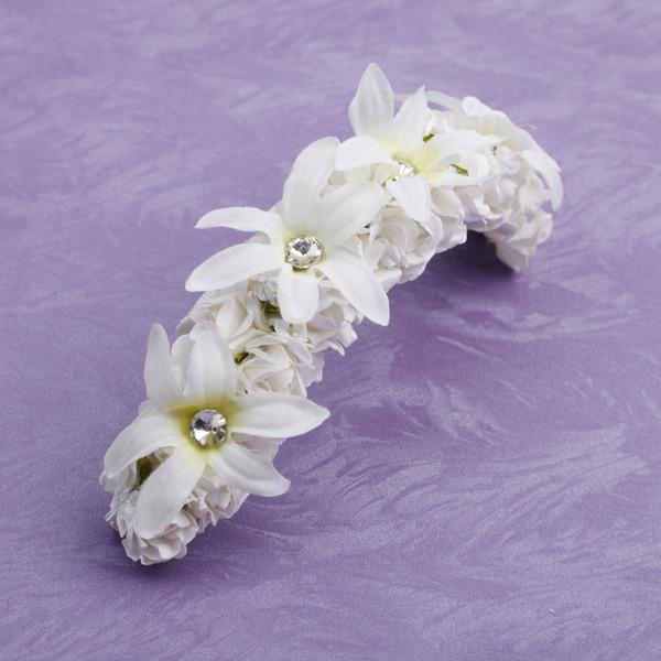 Satin/Papier Blumen Mädchen Kopfstück