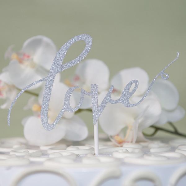 Kærlighed Udformning/Kærlighed er sød pap papir Kage Topper (Sælges i et enkelt stykke)