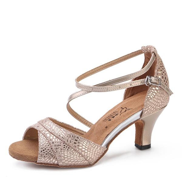 Натуральня кожа На каблуках Латино Обувь для танцев