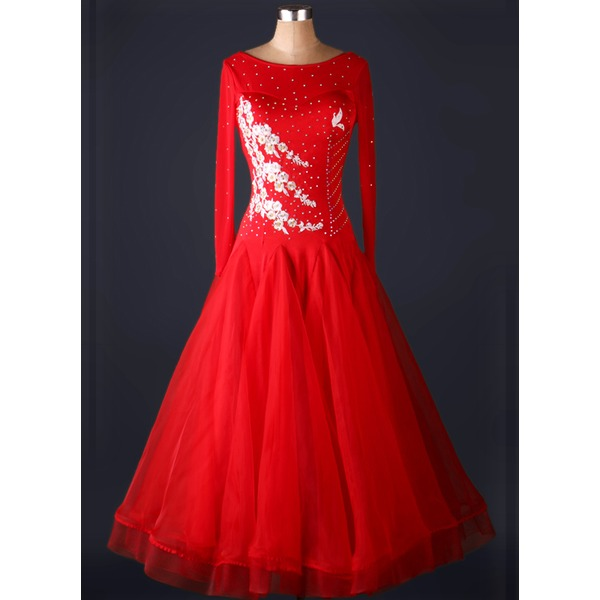 Femmes Tenue de danse Spandex Organza Danse latine Robes