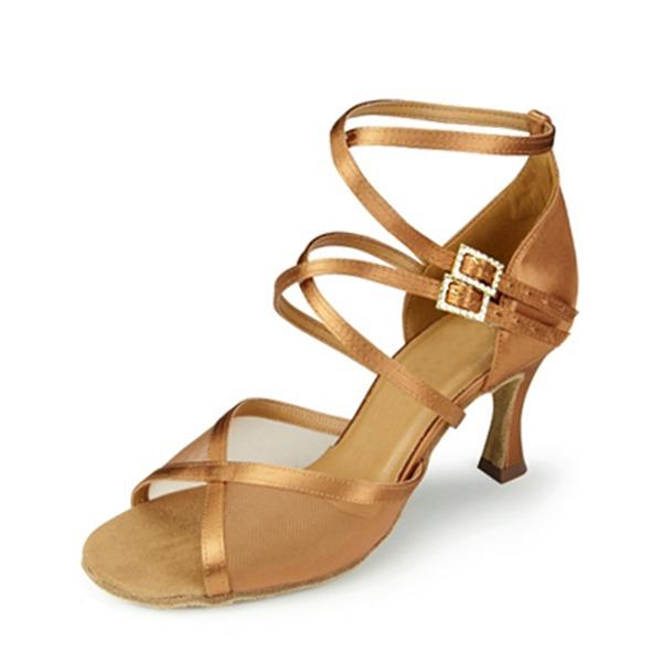 Mulheres Cetim Sandálias Latino Sapatos de dança
