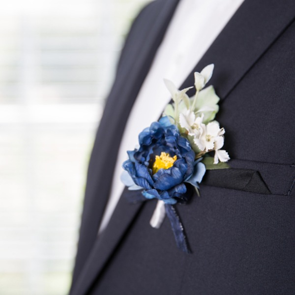 Elegant Free-Form Satin/Fabric Boutonniere (Sold in a single piece) -