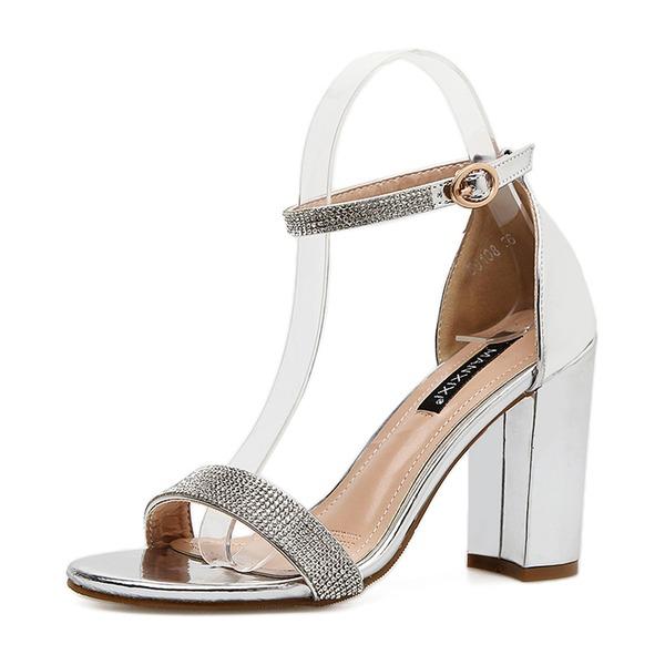 Kvinder PU Stor Hæl sandaler Pumps Kigge Tå med Spænde sko