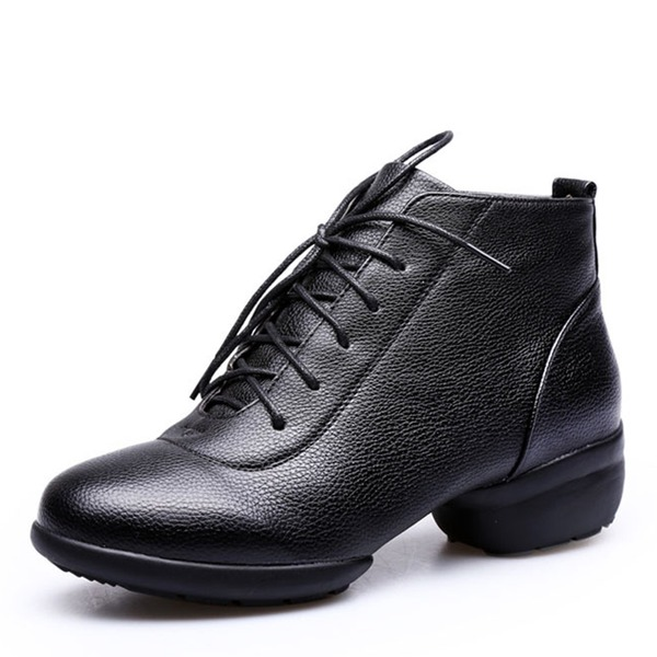 Women's Leatherette Sneakers Jazz Practice Dance Shoes