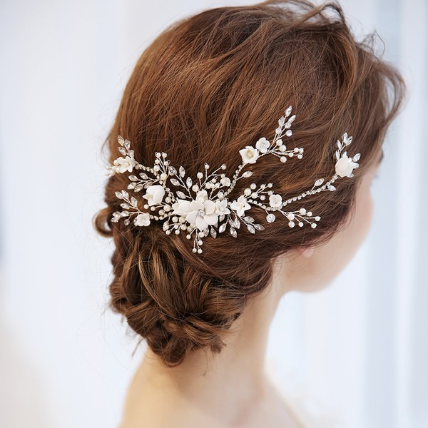 Abbigliamento donna Squisito Cristallo/lega Pettine & clip di capelli con Cristallo (Venduto in un unico pezzo)