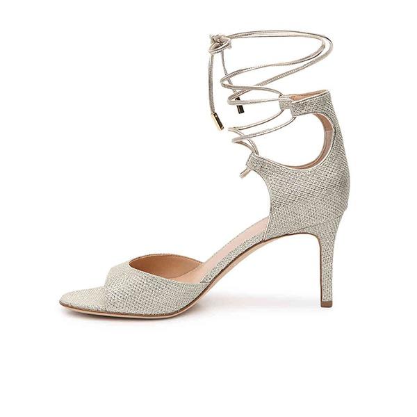 Vrouwen Kunstleer Stiletto Heel Pumps Sandalen met Vastrijgen