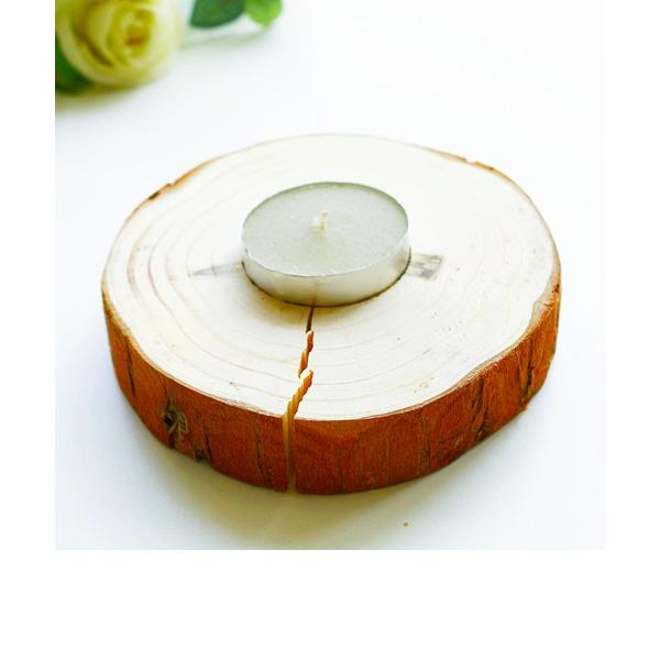 Klassische Art Rund Aus Holz Kerzenhalter (In einem einzigen verkauft)