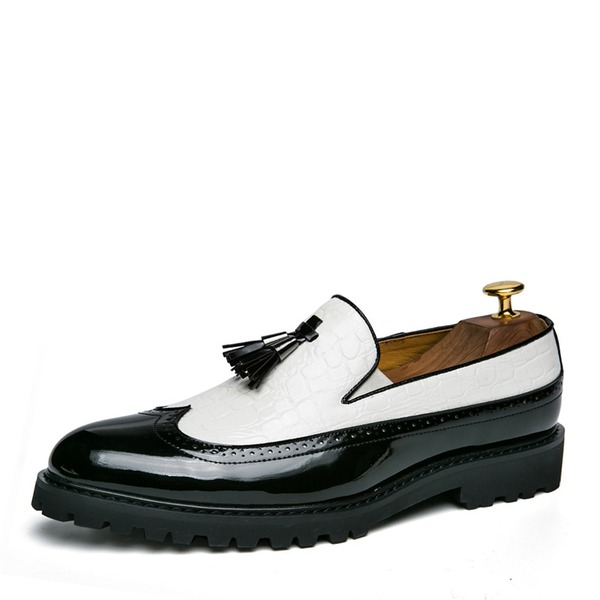 Homens Couro Borla mocassim Casual Sapatos De Vestido Mocassins Masculinos