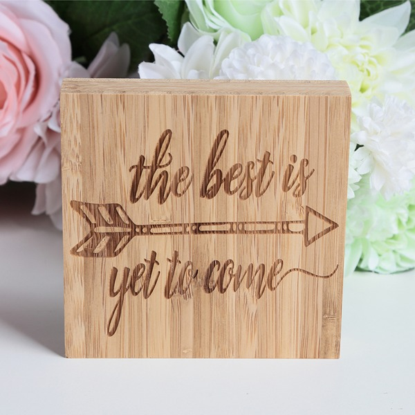 Nizza Piazza del Progettazione Bambù Wedding Sign (Venduto in un unico pezzo)