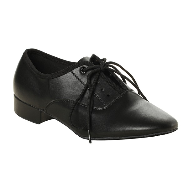 Men's Real Leather Heels Ballroom With Lace-up Dance Shoes