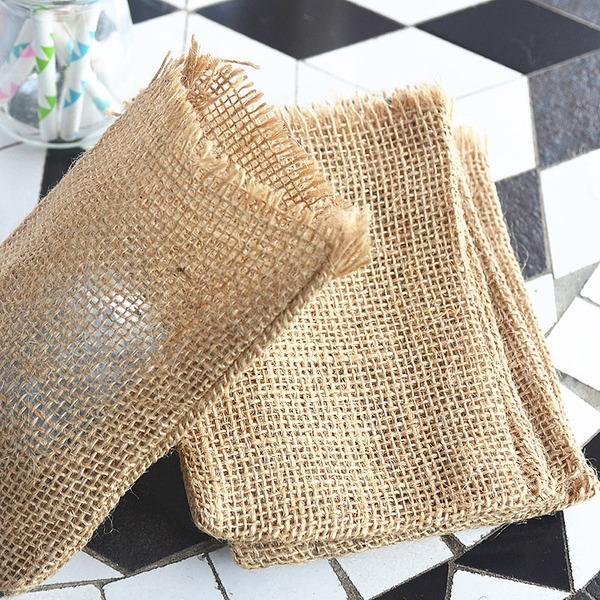 Klassische Art/Schön Handtasche geformt Leinen Geschenktaschen (Satz 6)