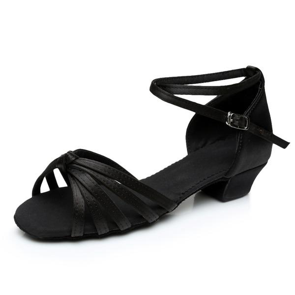 Donna Per bambini Raso Tacchi Sandalo Latino con Listino alla caviglia Scarpe da ballo