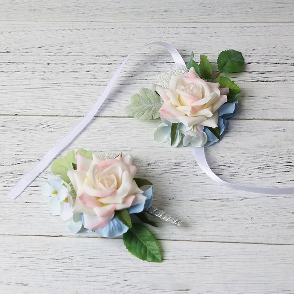 Elegant Freigeformt Stoff Blumen-Sets - Armbandblume/Knopflochblume